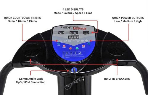 Bluefin Fitness Vibration Plate display