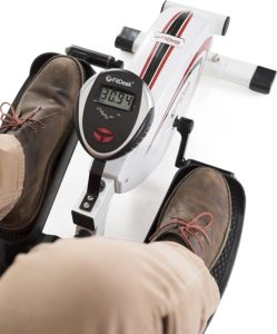 FitDesk Elliptical Trainer - used with work shoes in top view