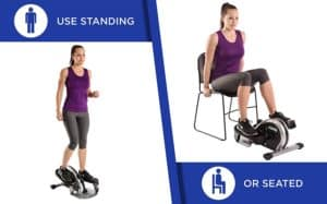 Stamina InMotion E1000 Compact Strider - woman sitting and standing