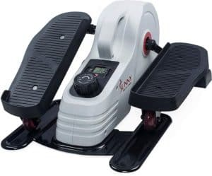 Sunny Health & Fitness Under Desk Elliptical - rear and right side view