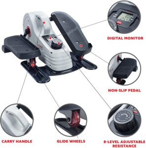 Sunny Health & Fitness Under Desk Elliptical - features